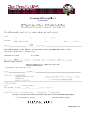 2015 Dues Renewal Form New England
